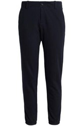 James Perse Cotton And Wool Blend Terry Track Pants Navy
