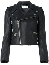 Faith Connexion Cropped Biker Jacket Black