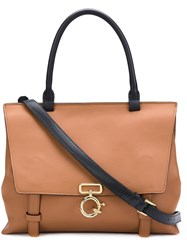 Derek Lam 10 Crosby 'Ave A' Top Handle Satchel Brown