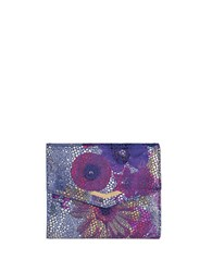 Lodis Lana Leather Clutch Multi Colored