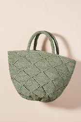 Anthropologie Kapity Woven Tote Bag Blue