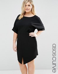 Asos Curve Mini Wiggle Dress Black