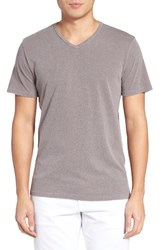 Velvet By Graham And Spencer Men's Stan Cotton Linen T Shirt Truffle