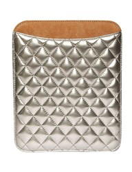 Pixie Market Silver Quilted Ipad Case