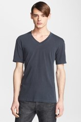 James Perse Short Sleeve V Neck Tee Brown