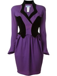 Thierry Mugler Vintage Colour Block Dress Pink And Purple