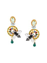 Dolce And Gabbana Drop Bee Clip On Earrings Multicolour