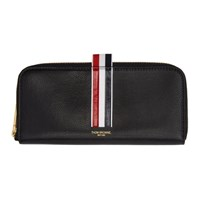 Thom Browne Black Long Half Zip Wallet