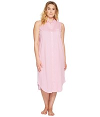 Lauren Ralph Lauren Plus Size Sleeveless Ballet Shirt Pink Stripe Women's Pajama