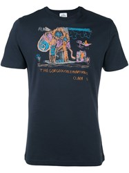 Vivienne Westwood Man 'Gorgeous Elephant House' T Shirt Blue