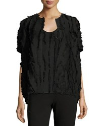 Zero Maria Cornejo Fil Coupe Short Sleeve Shrug Black
