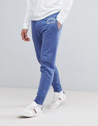 Abercrombie And Fitch Logo Print Cuffed Joggers In Navy Navy
