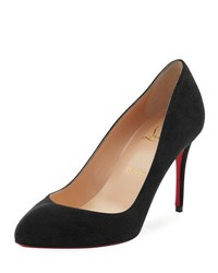 Christian Louboutin Breche Suede 85Mm Red Sole Pump Black