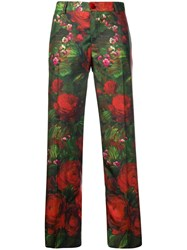 F.R.S For Restless Sleepers Rose Print Trousers Green
