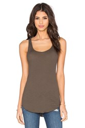 Enza Costa Rib Fitted Baseball Tank Olive