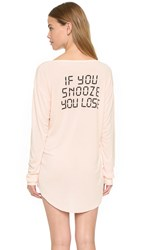 Wildfox Couture If You Snooze You Lose Sleep Shirt Chapstick