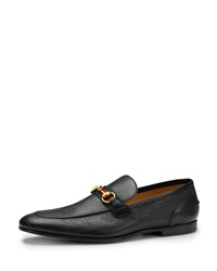 Gucci Elanor Leather Horsebit Loafer Black