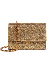 Michael Kors Collection Yasmeen Small Metallic Brocade Shoulder Bag Gold