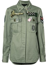 Marc Jacobs Military Patch Shirt Green