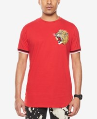 Sean John Men's Embroidered T Shirt True Red