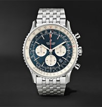 Breitling Navitimer 1 Chronograph 46Mm Steel Watch Ref. No. Ab0127211c1a1 Blue
