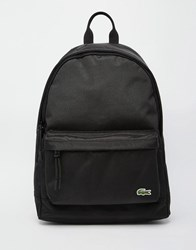 Lacoste Logo Backpack Black