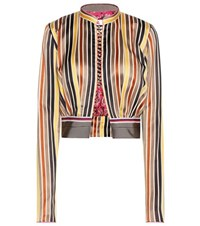Etro Cotton And Silk Cropped Jacket Multicoloured