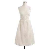 J.Crew Cameron Dress In Stripe Silk Organza Linen
