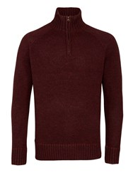 Howick Oakfield 100 Lambswool Funnel Neck Claret