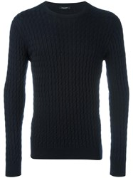 Roberto Collina Braided Detail Jumper Blue
