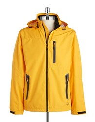 Hawke And Co Ripstop Windbreaker Puffer Yellow