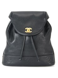 Chanel Vintage Chain Backpack Black