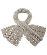 Cc Grey Marl Pearl Knit Collar