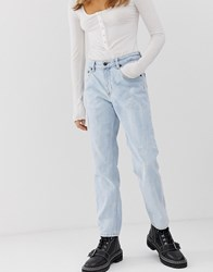 Cheap Monday Mom Jeans With Cropped Leg With Organic Cotton Blue