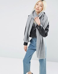 Asos Supersoft Long Woven Scarf Grey