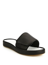 Rag And Bone Colorblock Leather Slide Sandals Black