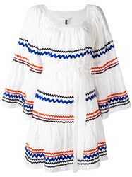 Lisa Marie Fernandez Short Peasant Dress White