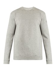 Hamilton And Hare Crew Neck Cotton Blend Sweatshirt Grey