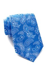 Tommy Hilfiger Silk Floating Pines Tie Blue