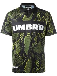 House Of Holland Umbro Snakeskin Print T Shirt Black