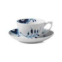 Royal Copenhagen Blue Fluted Mega Cup And Saucer Low Handle