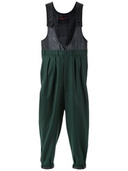 A La Garconne Layered Jumpsuit Polyester Wool Green