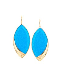 Lana 14K Electrifying Marquise Opal And Hematite Drop Earrings Blue