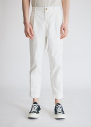 Beams Plus 1Pleats 80 3 Twil Cotton In White Pants Size Small 100 Cotton