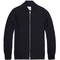 Our Legacy Bomber Knit Fluffy Marine