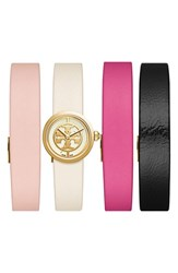 Tory Burch Women's 'Reva' Leather Strap Watch Set 20Mm