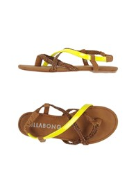 Billabong Footwear Thong Sandals Women Brown