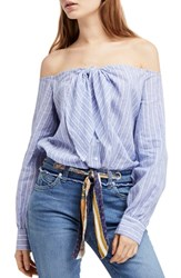 Urban Outfitters 'S Free People Hello There Beautiful Shirt Blue
