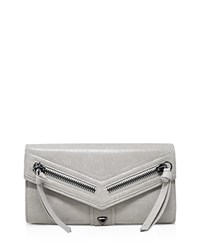 Botkier Trigger Flap Leather Wallet Ice Gray