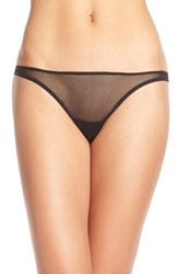 Cosabella Women's 'Soire' Low Rise Mesh Thong Black